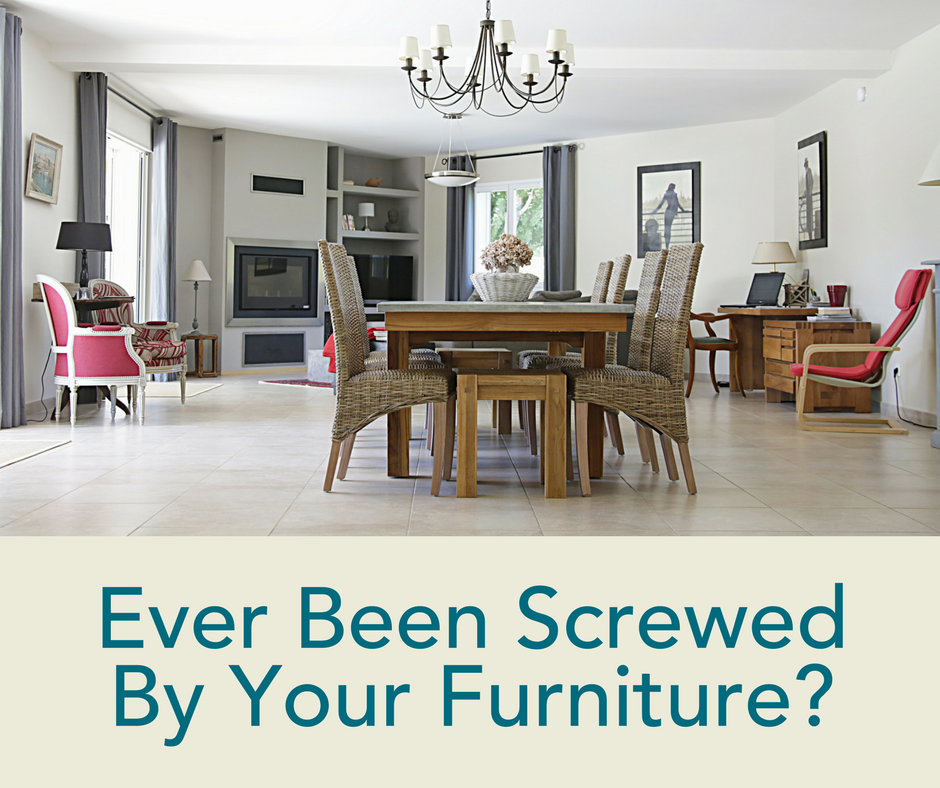 screwed by furniture