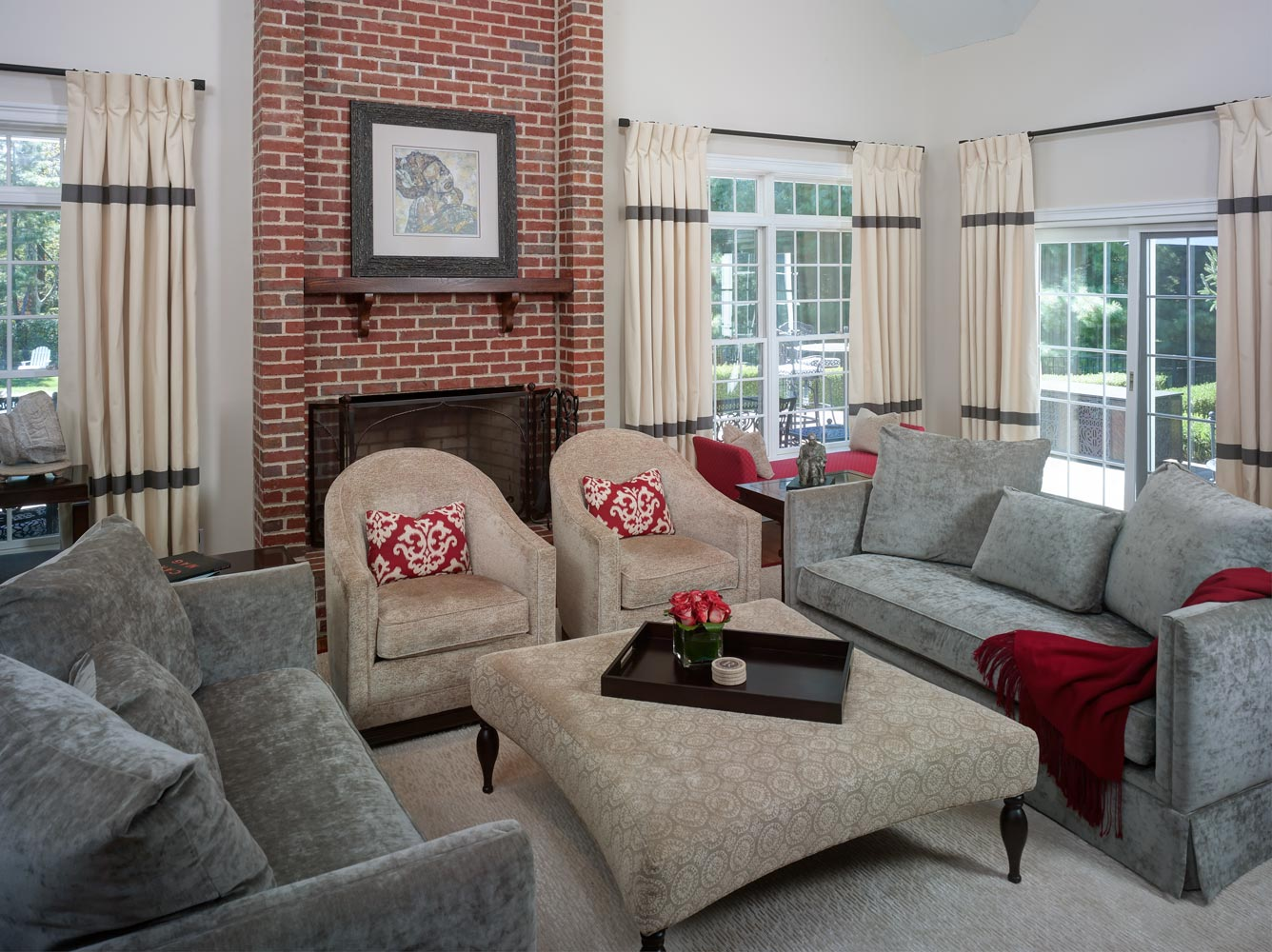 Cozy, Chic Family Room