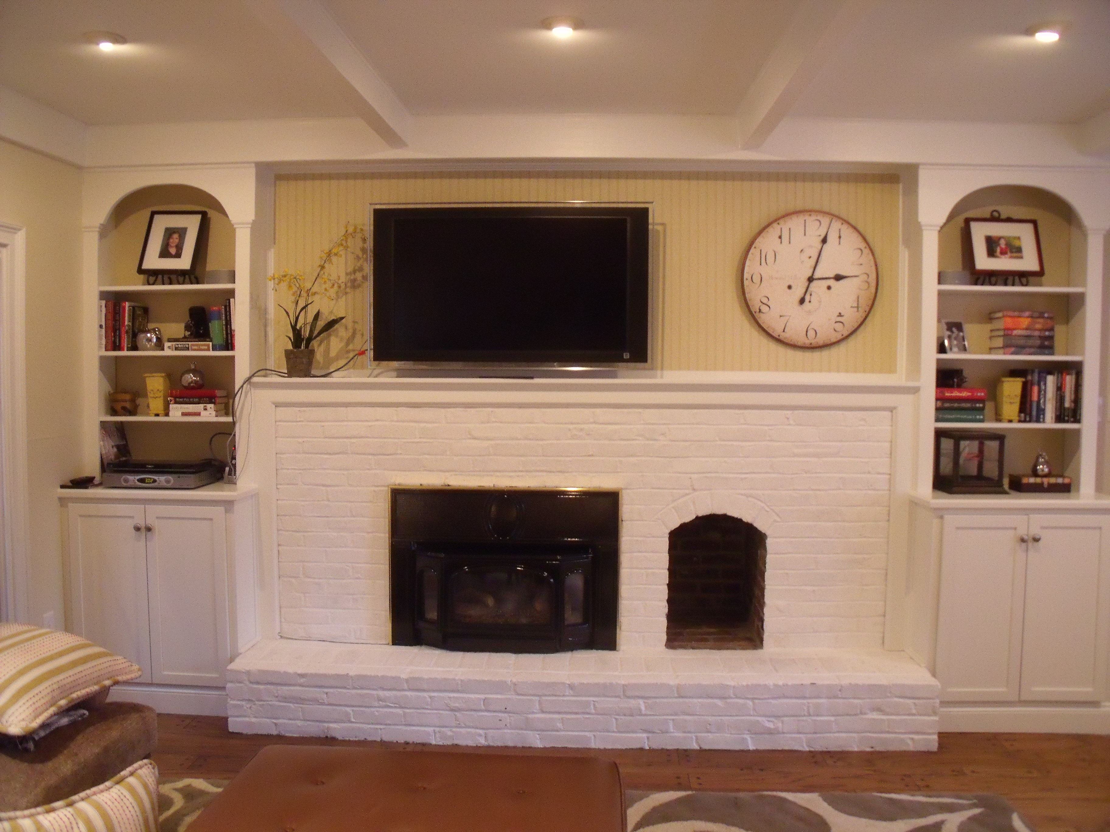 facelift for a fireplace interiors by donna hoffman